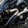Parked motorcycle - Stock Photo