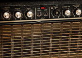 Vintage guitar amplifier — Stock Photo