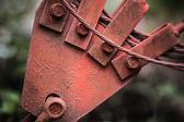 Oude grunge roestige metalen detail — Stockfoto