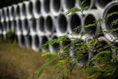 Drainage pipes — Fotografia Stock