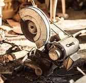Circular saw on sawmill — Stock Photo