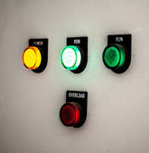 Control buttons on a wall — Stock Photo