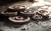 Old rusty gears — Foto Stock