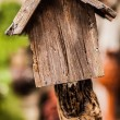 Wooden birdhouse - Stockfoto