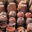A lot of old clay pots - Stock Photo