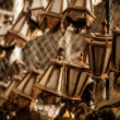 Classical Asian wooden small lamps. - Stock Photo