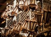Klasická asijská dřevěné malé lampy. — Stock fotografie