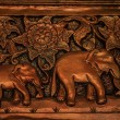 Elephant carving texture background — Stock Photo
