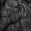 Elephant carving texture background — Foto Stock
