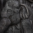 Elephant carving texture background — Stockfoto