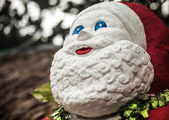 Santa Claus - amusing handwork stone figurine. — Stock Photo