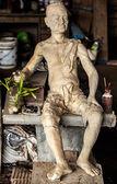 Geleneksel taş asya heykel. — Stok fotoğraf
