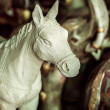 Vintage horse figurine - Stock Photo