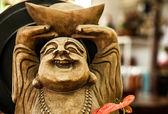 Ancienne figurine de pierre traditionnelle. — Photo