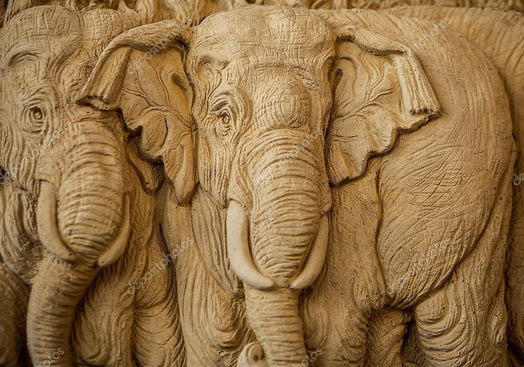 Слон резьба текстура фон — Стоковое фото innervision