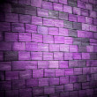 Stock Photo: Colored violet brick wall background
