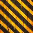 Yellow Warning Stripes Background — Stock Photo