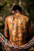 Man with tattoo — Stock Photo