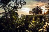 Krajina z tropického ostrova s dokonalou západu slunce obloha — Stock fotografie