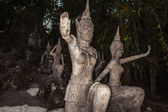 Old stone sculpture in Thailand — Stock Photo