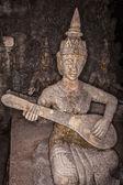 Eski taş heykel tayland — Stok fotoğraf