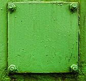 Texture of old green metal door — Stock Photo