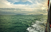 Islands in Southeast Asia. Crossing on ferry. — Stock Photo