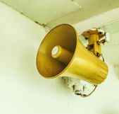 Old ship loudspeaker — Stock Photo