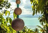 Orientalische dekoration auf tropic landschaft — Stockfoto