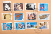 Greek stamps — Stock Photo