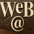 Wooden Web word — Stock Photo