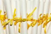Diplomas de graduação — Fotografia Stock