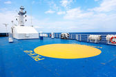 Helipad area on - board ship — Stock Photo