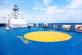 Helipad area on - board ship — Stock Photo