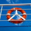 Lifebuoy on a ferry boat - Stock Photo