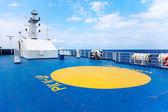 Helipad area on-board ship — Stock Photo
