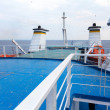 Helipad area on-board ship - Stock Photo