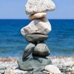Постер, плакат: Stacked stones representing balance