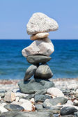 Stacked stones representing balance — Stock Photo