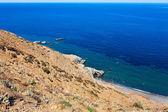 Playa de area de kipi en la isla de samotracia — Foto de Stock