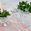 Wedding ceremony decoration — Stock Photo