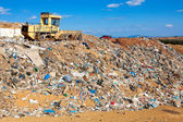 Landfill. Site for the disposal of waste materials by burial and — Stock Photo