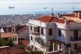 Letecký pohled na thessaloniki, řecko — Stock fotografie