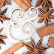 Stock Photo: Cinnamon and star anise
