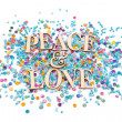 Peace & Love — Stock Photo