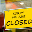 Foto Stock: Closed sign