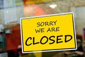 Zamknięty znak — Zdjęcie stockowe