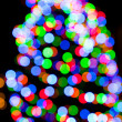 Christmas tree lights — Stock fotografie