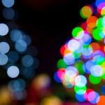 圣诞节树灯 — 图库照片