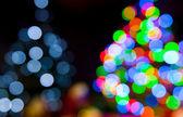 Lumières d'arbre de noël — Photo